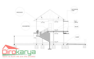 Struktur Beton Bangunan Rumah Sederhana Diro Karya