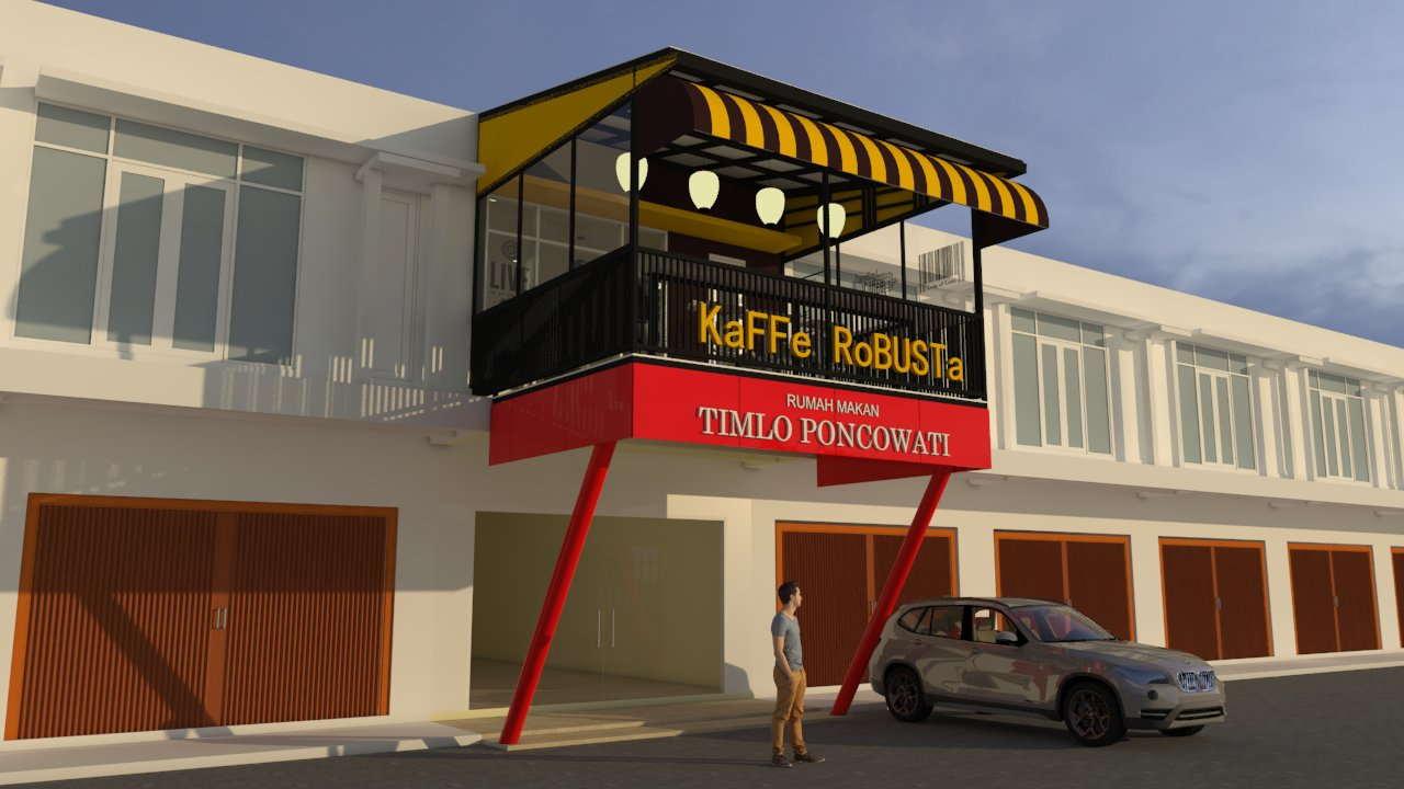 Desain Cafe Ruko 2 Lantai Diro Karya